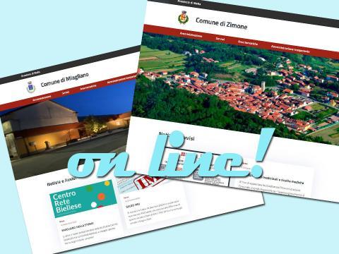 Immagine notizia Online i siti di Zimone e Miagliano