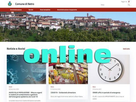 Immagine notizia Il nuovo sito del Comune di Netro da oggi è online