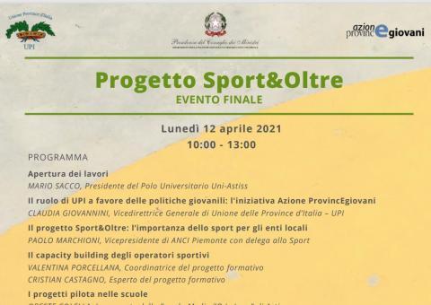 """Immagine notizia Conto alla rovescia per l'evento conclusivo di """"Sport&Oltre"""""""